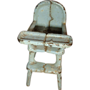 Primitive Kilgore Cast Iron Dollhouse High Chair 1920's-30's