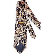Vintage Men's Novelty Necktie Dogs Puppies Korea Dino Romaro Hand Made Tie