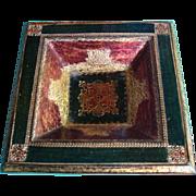 Florentine Florentia Tag Tri Color Ashtray Made in Italy Gesso