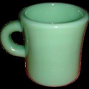 Extra Heavy C Handle Jadite Fire King Glass Restaurant Ware Mug