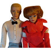 Original 1960's Bubble Cut Barbie and Ken, Wardrobe, Outfits, Accessories, Football Barbie