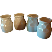 Set of 4 Anchor Hocking Fire King Milk White Georgian Tumblers HTF