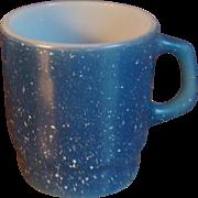 Fire King Anchor Hocking Blue Speckled Granite Mug