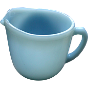 Fire King Turquoise Creamer Cream Pitcher Blue
