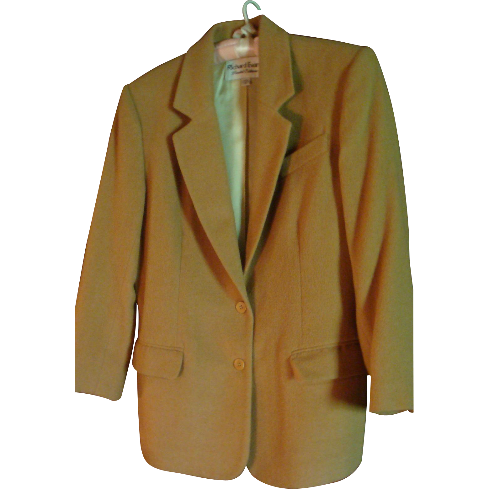 Vintage Classic Richard Evans Limited Edition 100% Camel's Hair Jacket Size 10 Blazer Coat