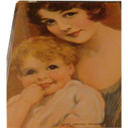 Love's Sweetest Treasure Early Mother Child Lithograph Trade Card 5 x 7