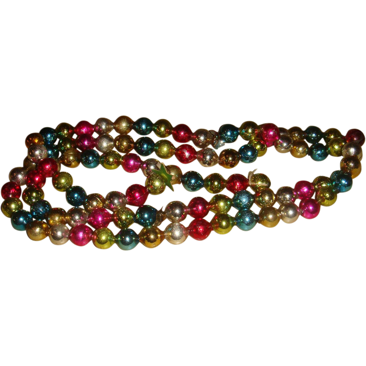 Multicolor glass beads christmas garland decoration no