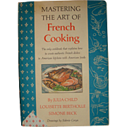 1961, 1966 Mastering The Art of French Cooking Julia Child, Bertholle, Beck With Dust Jacket, Fleur de Lis