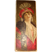 1906 Candy Box Vivid Graphics Lovely Lady, Mink, Tapestry, Royalty, F. B. Washburn & Co.