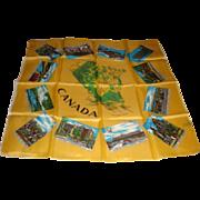Souvenir' De Montreal Canada Silky Scarf Fabrique' Au Japon Map and Famous Landmarks