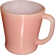Fire King Pink D Handle Mug Hard to Find Color
