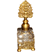 Ormolu Filigree Holder Vanity Perfume Bottle With Dauber KY Estate