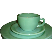 Fire King Heavy Restaurantware Jadite Cup and Saucer Set(s)