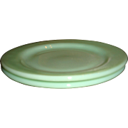 Fire King Jadite Salad or Pie Plate Restaurant Ware, G297,  Like New,  6 3/4 Inches