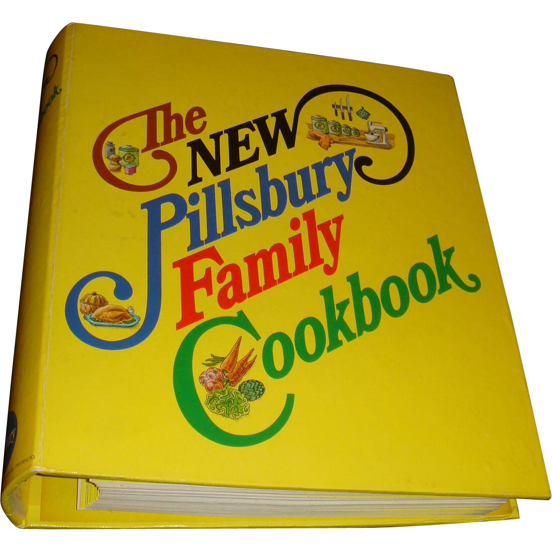 Vintage Cookbook >> 1973 Hardback 5 Ring Binder The New Pillsbury Family Cookbook Classic from loghomeantiques on ...