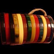 Make Your Own Necklace or Bracelet 13 Bakelite Discs Rings