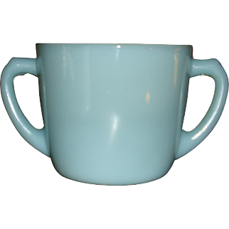 Fire King Turquoise Blue Open Sugar Bowl 1956-1958