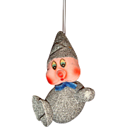 Mica Paper Mache Christmas Gnome Elf Candy Container Ornament