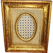 Collectible Italy Florentine Wood Gold Gesso Picture Dimensional Frame