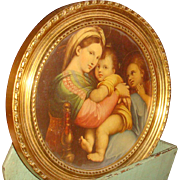 10 Inch Raphael Framed Print Madonna of the Chair Gold Wood Frame