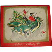 Vintage Hallmark Christmas Card Box Downton Abbey Style Cover