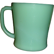 Excellent Jadite Oven Fire King Ware Thick D Handle Mug