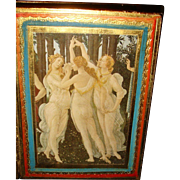 Dancing Maidens Florence Gold Gesso Book Box Made in Italy