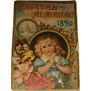 1890 Capital Almanac Advertising Chapman Groceries, Hardware, Stove, Tinware, Vienna, IL - Red Tag Sale Item