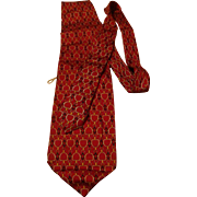 Gucci Silk Necktie Tie Horse Bit Design Made in Italy