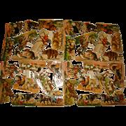 Near Perfect Victorian Animal Diecut Die Cut Sheet Printed in Germany