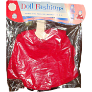Premier Doll Accessories Doll Fashions Red Corduroy Coat Original Package Unused