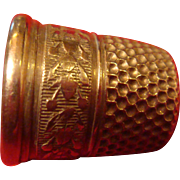 Nickel Silver Early Simon Brothers Co. Sewing Thimble Size 6 SBC, USA