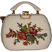 Vintage Adele Handbag Miami, FL Wicker, Lucite, Petit Point, Beads