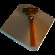 1937 Patent Schick Injector Razor Carved Ribbed Bakelite Handle