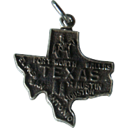 State of Texas Sterling Silver Charm
