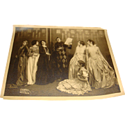 Sepia Photo Vaudeville Jester and Ladies, Victorian, Flapper, Celebrity, Chicago