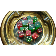15 Colorful Bakelite Dice Various Sizes Red and Green Translucent Prystal, 4 Solid