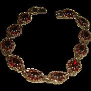 Sterling Silver Bohemian Garnets Bracelet