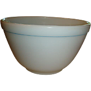 Number 401 Pyrex  1 1/2 Pint Small Nesting Mixing Bowl Turquoise Stripe