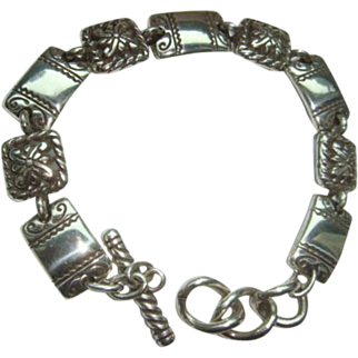 Retired Brighton 9 Link Bracelet With Toggle Closure in Like New Condition