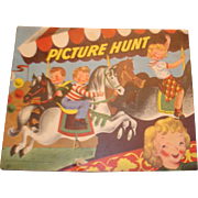 1950 Paper Bound Children's Book Picture Hunt Color and Learn Activities
