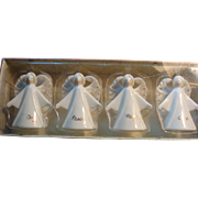 Vintage Porcelain Angel Christmas Ornaments Russ A Touch of Grace Original Box