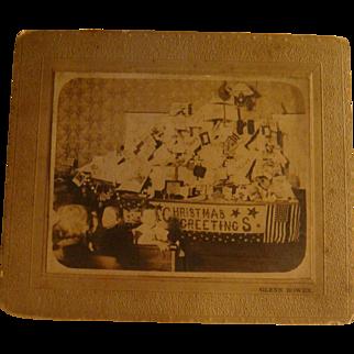 Christmas Greetings Cabinet Card Photo Church Float or Party Glenn Bowen