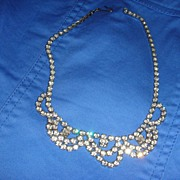 Vintage Prong Set Rhinestone Necklace Perfect for Wedding, Prom or Party!
