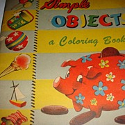 1949 Coloring Book Simple Objects Samuel Lowe Company