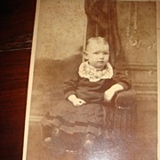Darling Baby Cabinet Card from Victorian Era: J.R.Cole Hillsdale, Michigan
