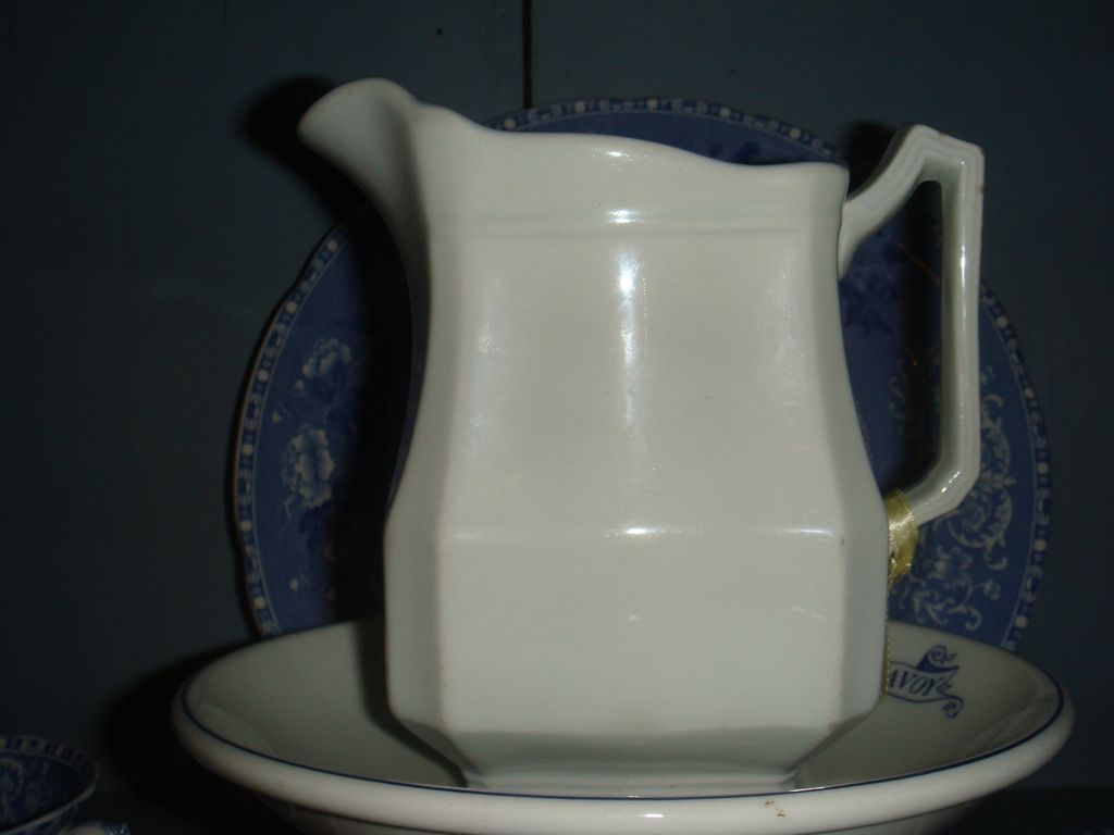 J & G Meakin Ironstone Block Optic Pitcher Small Size