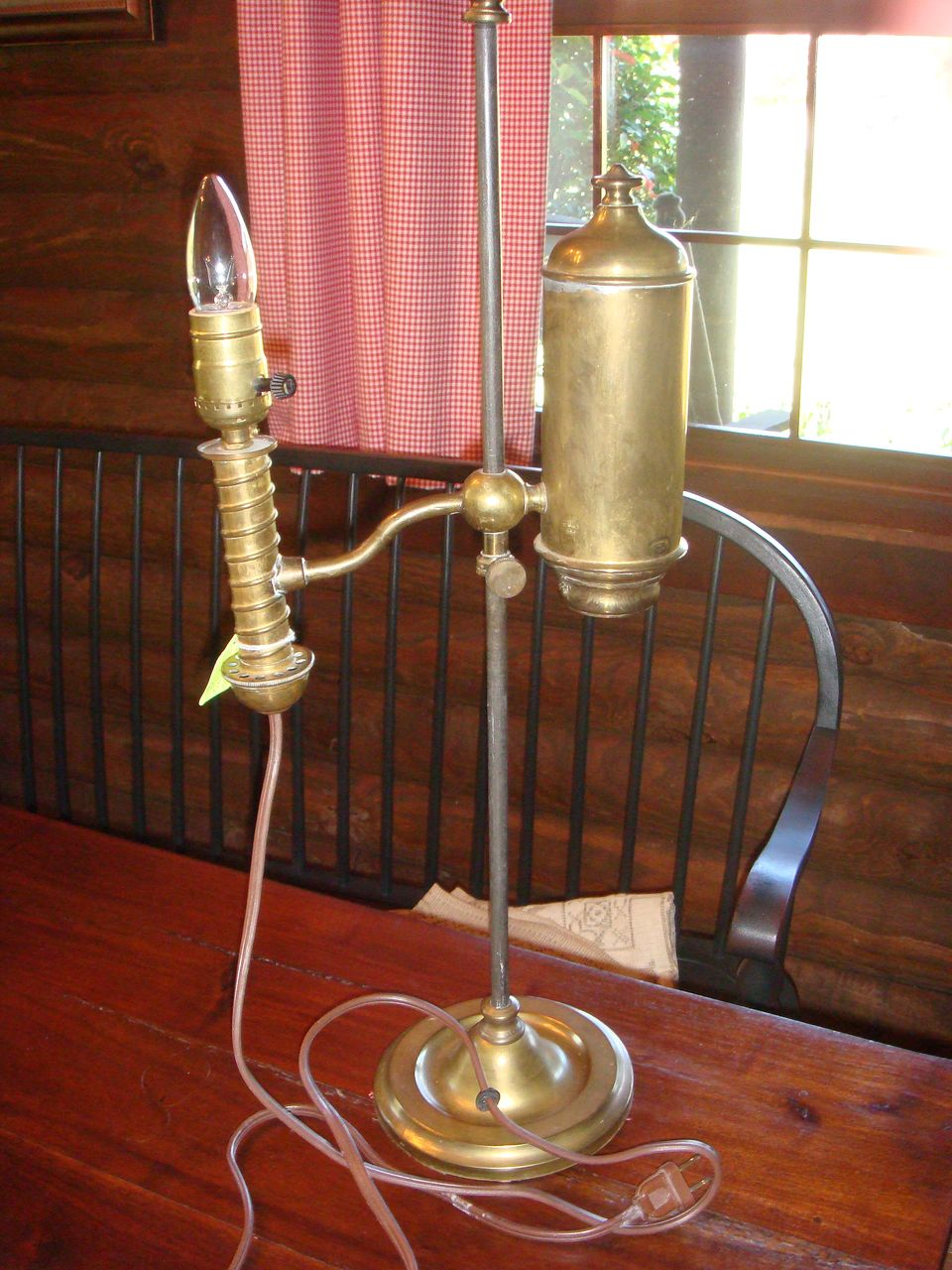Antique Brass Student Lamp Adjustable Height