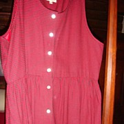 Wonderful Size 12 Susan Bristol Long Vintage Ladies' Jumper Red and Black