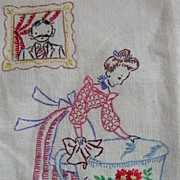 Hand Embroidered Father Towel